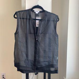 NWT Helmut Lang sheer black top